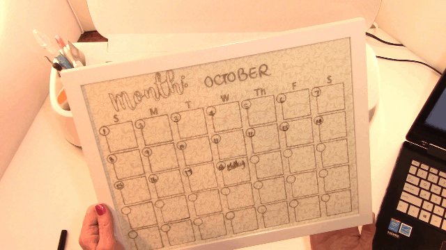 Making a Perpetual Monthly Calendar on the Cricut Maker 1