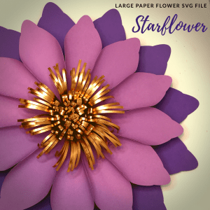 Starflower SVG File for DIY Large Paper Flowers
