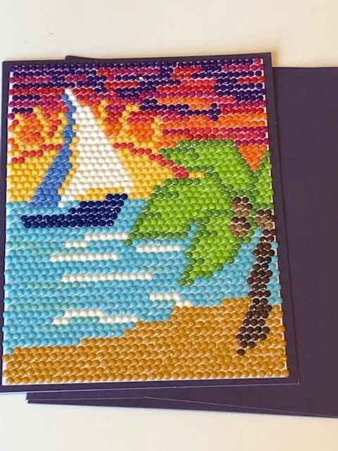 Island Sunset Diamond Painting Image for Cricut Design Space