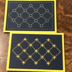 Paper Embroidery Card Set Diamond Design SVG Files