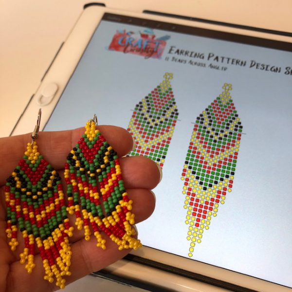 seed-bead-earring-designer-page-for-procreate-eleven-beads-across-angled-fringe-craft-curiosity