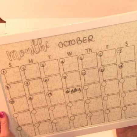 making a perpetual monthly calendar on the cricut maker craft